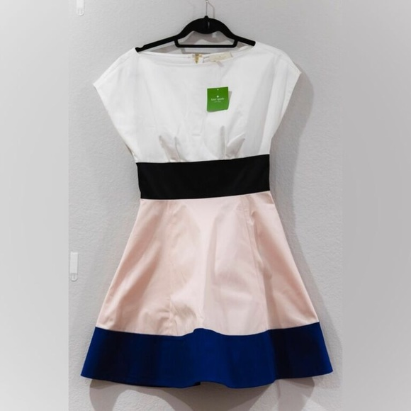 c35eeaa597 NWT Kate Spade Fiorella Colorblock Dress